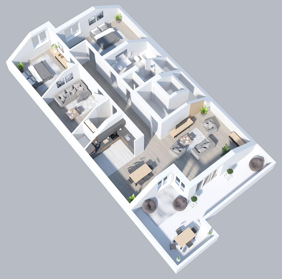 Laier Wohnhaus Wiesloch Liselottestraße 3D Ansicht