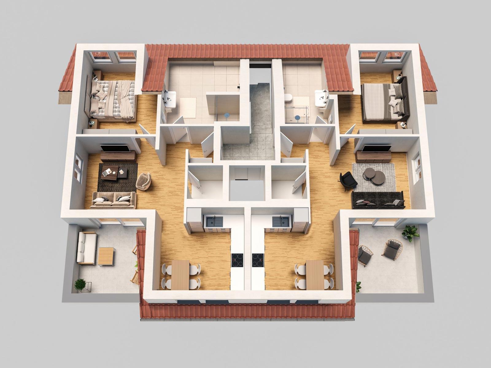 5 Eigentumswohnungen in St. Leon - Rot